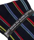 +Salcombe PANTHERELLA Retro Mod Multi Stripe Socks