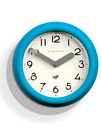 Pantry NEWGATE Retro Matte Wall Clock in Aqua Blue