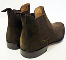 Greig PAOLO VANDINI Retro Mod Suede Chelsea Boots