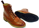 Ike PAOLO VANDINI Retro Indie Mod Brogue Boots (T)