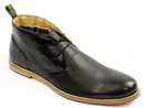 PAOLO VANDINI RETRO MOD LEATHER DESERT BOOTS
