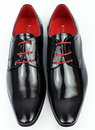 Wizard PAOLO VANDINI Retro Mod Etched Patent Shoes