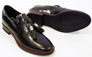 D Brogue Croc Print GEOX Retro 70s Leather Loafers