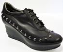 PATRICK COX GEOX HOXTON WEDGES 70s RETRO STUDDED