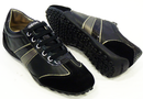 Snake GEOX Retro Indie Leather & Suede Trainers