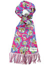 peckham rye piccadilly paisley mod silk scarf pink