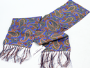 PECKHAM RYE MOD SILK SCARF PURPLE ORNATE PAISLEY