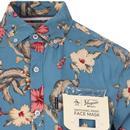 ORIGINAL PENGUIN Retro Floral Shirt & Mask (CB)