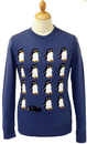 Penguin Party Retro 70s Indie Christmas Jumper