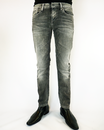 Hatch PEPE Retro Vintage Wash Slim Indie Jeans (B)