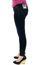 Spy PEPE Jeans Indie Denim & Leather Skinny Jeans