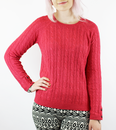 PEPE JEANS WOMENS RETRO 70S CABLE KNIT JUMPER