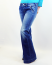 PEPE WOMENS FLARED JEANS DENIM FLARES FOR WOMEN