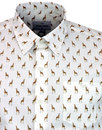 Savanna PETER WERTH Retro 70s Giraffe Print Shirt