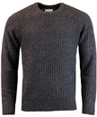 peter werth oregon retro donegal jumper charcoal