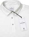 Point PETER WERTH 60s Tonal Check Polo - White