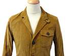 Hare PETER WERTH Retro 60s Mod Cord Tunic Jacket