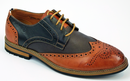 PETER WERTH RETRO SHOES BROGUES 70s MOD TURNMILL