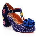 Adore Me POETIC LICENCE 60s Floral Heels Navy