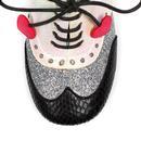 Clara Bow POETIC LICENCE Mod Brogue Heels in Black