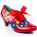 Poetic licence end of story vintage floral boots red