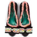 That's Amore POETIC LICENCE Vintage Neon Heels Bl