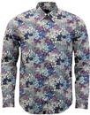 pretty green calbourne liberty floral shirt white