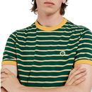 PRETTY GREEN Retro Contrast Stripe Ringer T-Shirt