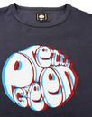 PRETTY GREEN Retro 3D Signature Logo Tee - Black