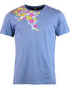 pretty green acoustic floral tee mid blue