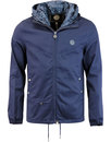 pretty green beckford paisley hooded jacket Navy