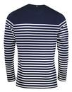Echo PRETTY GREEN 60s Mod Breton Stripe LS T-Shirt