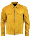pretty green broadwick mens retro 70s suede jacket