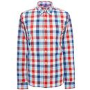 pretty green mens classic check shirt navy
