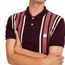 PRETTY GREEN Mod Contrast Stripe Pique Polo Shirt