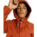 PRETTY GREEN Mens Retro Mod Hooded Cotton Jacket