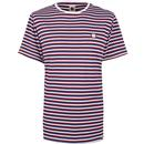 Pretty Green feeder stripe crew neck tee blue