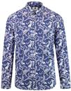 pretty green katie eary 60s mod paisley silk shirt
