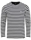 Kinsey PRETTY GREEN 60s Mod Long Sleeve Stripe Tee