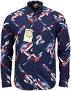 pretty green kirby print shirt blue