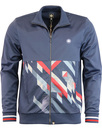 pretty green kirby funnel neck track top navy