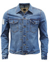 pretty green lamberts denim jacket blue mod