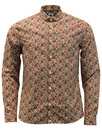 pretty green manor shirt stone mod