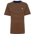 PRETTY GREEN Men's Retro Bold Multi Stripe Tee N