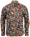 PRETTY GREEN RETRO MOD RILEY PRINT SHIRT