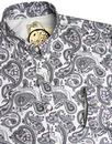 PRETTY GREEN 1960's Mod Signature Paisley Shirt Gr