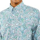 PRETTY GREEN Retro Bold Signature Paisley Shirt