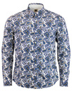 pretty green paisley shirt white mod