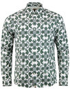 pretty green palatine 60s mod paisley shirt green