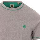 PRETTY GREEN Retro Contrast Piping Ringer Tee G